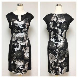 ➕ Dress Barn Floral Illusion Dress 10R